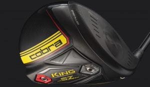 "Cobra's King Speedzone driver features a CNC milled ""infinity"" face."