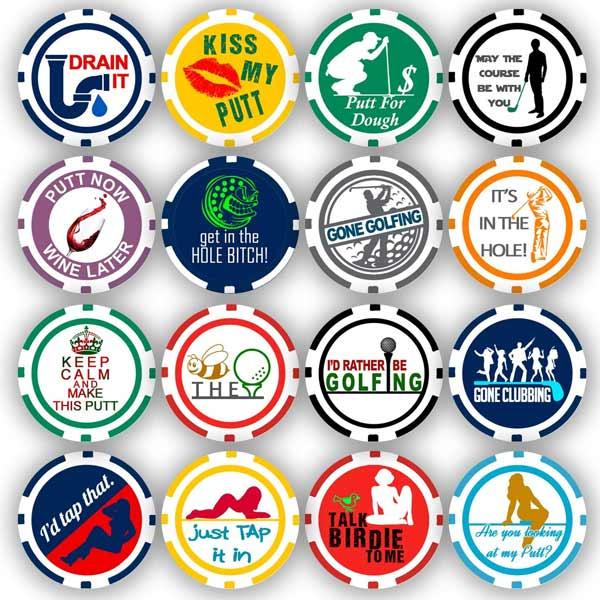 Da Vinci Golf Ball Marker Poker Chip Collection