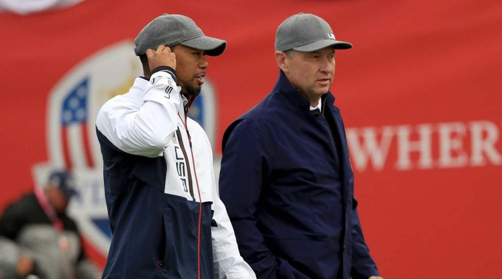Davis Love III selected Tiger Woods as one of his vice captains at the 2016 Ryder Cup at Hazeltine.