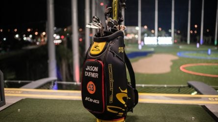 Jason Dufner's deal with Cobra Golf includes clubs and the staff bag.