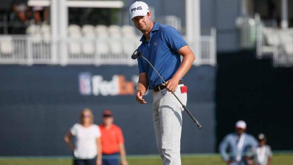 Harris English leads the Mayakoba Golf Classic through 36 holes.