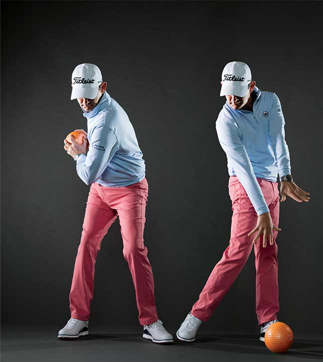 To improve your ballstriking, swing a four-to-six-pound medicine ball to increase your