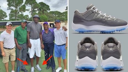 Michael Jordan was wearing these golf shoes as far back as 2015 — and soon they could be yours.