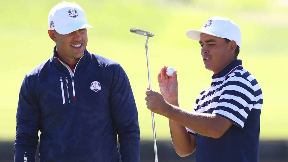 Rickie Fowler will replace Brooks Koepka on this year's U.S. Presidents Cup team.