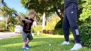 Dustin Johnson Son Shot