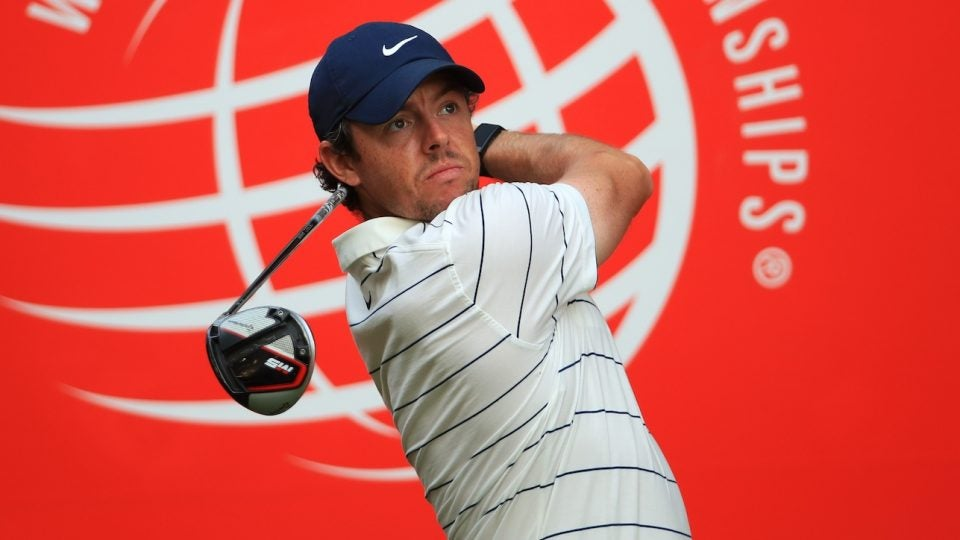 Rory McIlroy's TaylorMade M5 driver had a new look in China.