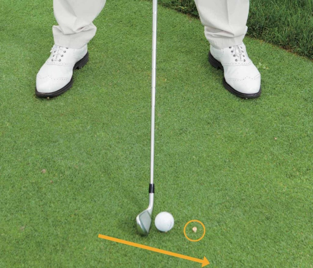 Setup for drill to help you hit long irons