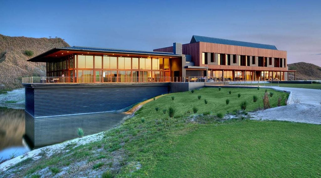 The Streamsong clubhouse.