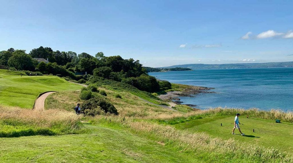 Carnalea Golf Club had a memorable 9th hole by the water.
