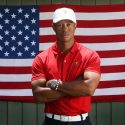 Tiger Woods American flag