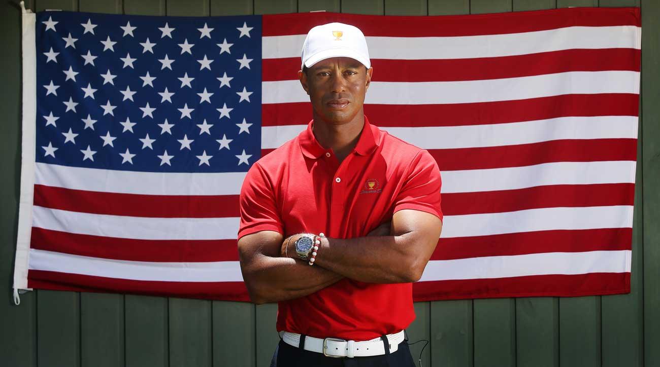 Tiger Woods American flag