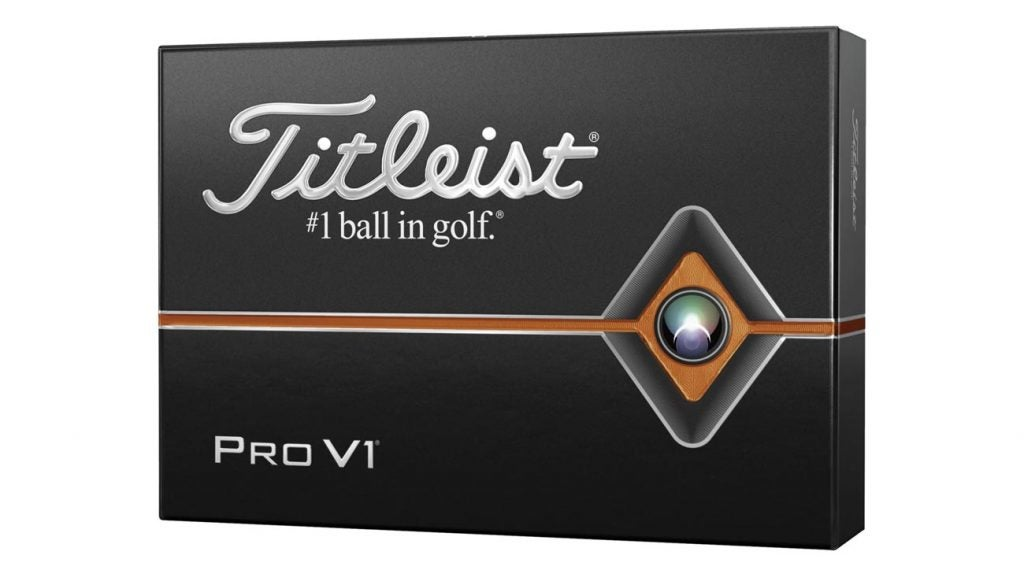 Titleist 2019 Pro V1 Personalized golf balls.