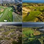 A look at four courses on GOLF's Top 100 Course in the World list, from top right, clockwise: Pacific Dunes (24th), Trump Turnberry, Ailsa (17th), Tara Iti (27th) and Oakmont (No. 8).