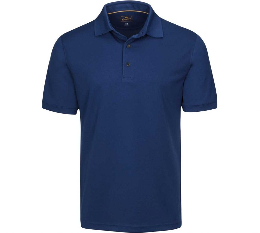 Tourney Men's Knits Short Sleeve Pique Performance Golf Polo.