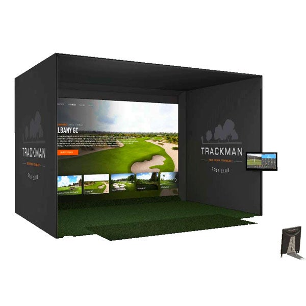 TrackMan 4 Indoor golf simulator with FlexCage