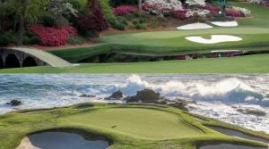 Augusta National (top photo) and Pebble Beach Golf Links have both dropped spots on GOLF's latest Top 100 Courses in the World ranking.