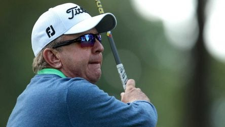 Billy Mayfair takes a swing during an event.
