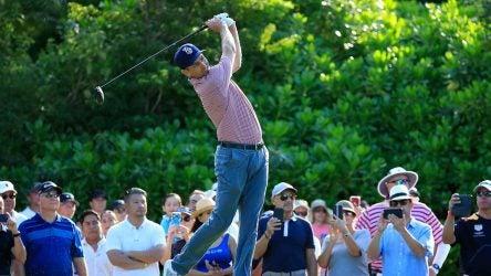 Brendon Todd tees off at the Mayakoba Golf Classic on Sunday.