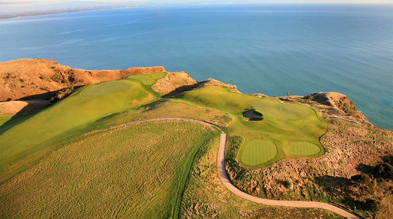 The 12th hole at Cape Kidnappers, a 2004 Tom Doak design in New Zealand.