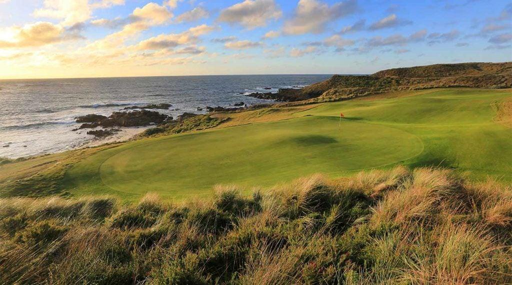 The 17th hole at Cape Wickham in Australia.