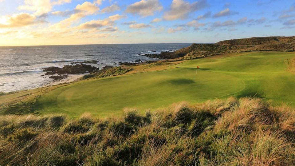 The 17th hole at Cape Wickham in Australia.