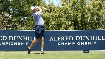 Ernie Els tees off during the Alfred Dunhill Championship.