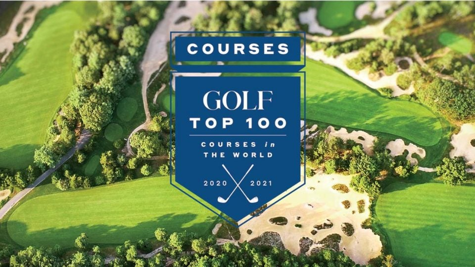 GOLF's Top 100 Courses in the World 2020-2021.