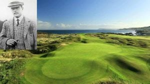 H.S. Colt (inset) and Royal Portrush Golf Club (Dunluce) in Northern Ireland,