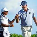 "Matt Kuchar and caddie David ""El Tucan"" Ortiz at last year's Mayakoba Golf Classic."