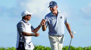 "Matt Kuchar and caddie David ""El Tucan"" Ortiz at last year's Mayakoba Golf Classic."