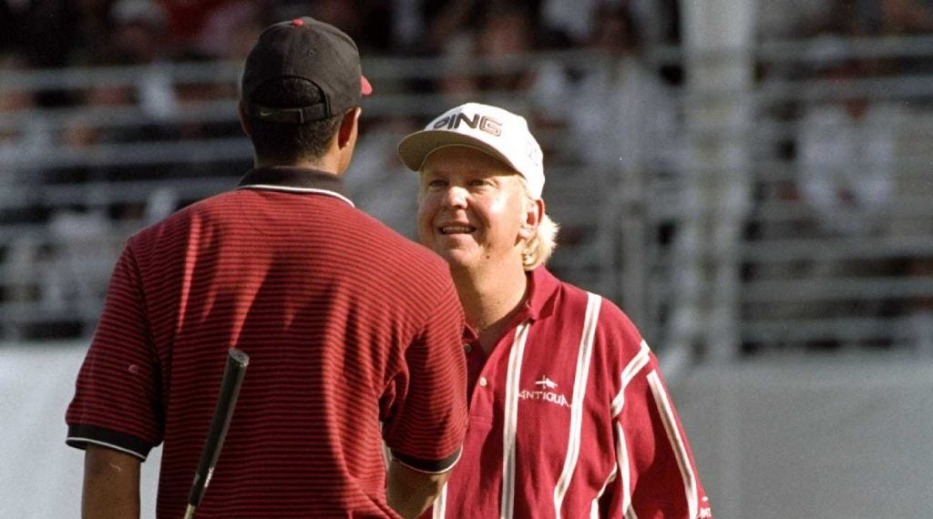 Mayfair took down Woods in a playoff at the 1998 Nissan Open.