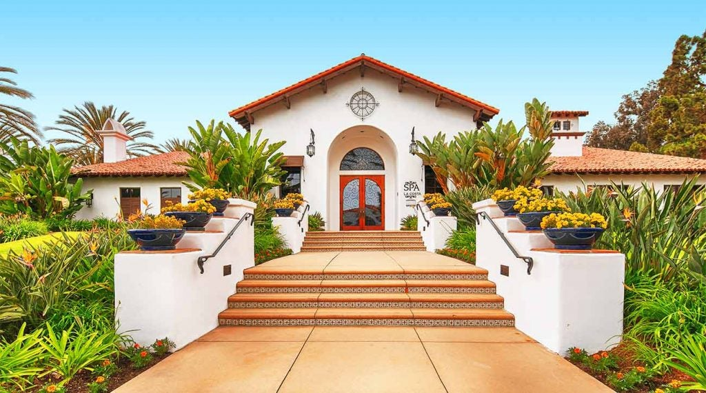 The entrance to the spa at Omni La Costa Resort & Spa.