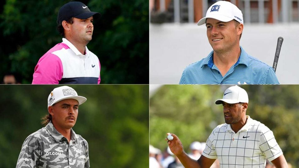 Clockwise, from top right: Jordan Spieth, Tony Finau, Rickie Fowler and Patrick Reed. These four are just a handful of the players who are hoping to get a call from Tiger Woods to join the Presidents Cup team.