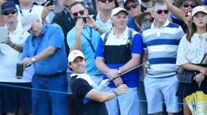 Rory McIlroy pictured during the third round of the 2019 DP World Tour Championship