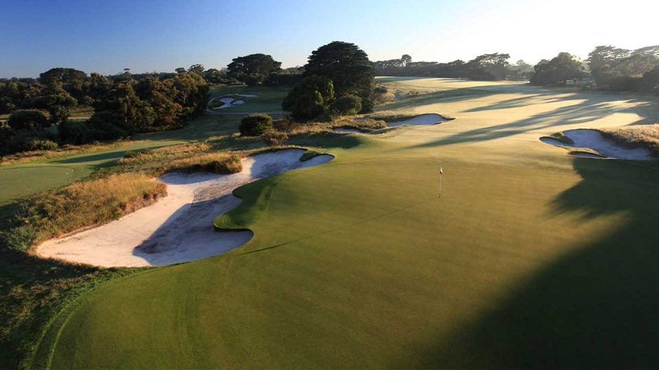 A view of the 4th hole at Royal Melbourne's West course.