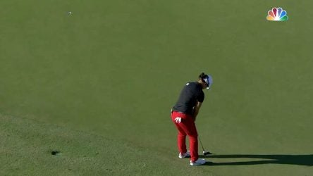 Sei Young Kim lines up her putt to win the CME Group Tour Championship on Sunday.