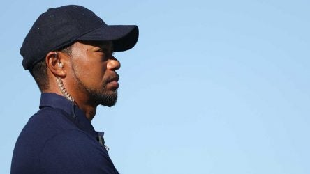 Tiger Woods looks on at the 2016 Ryder Cup at Hazeltine, where he was an assistant captain. Come December he'll lead the U.S. Presidents Cup team in Australia.