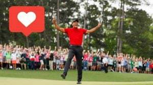"Tiger Woods winning the Masters had golf fans everyone hitting the ""like"" button."
