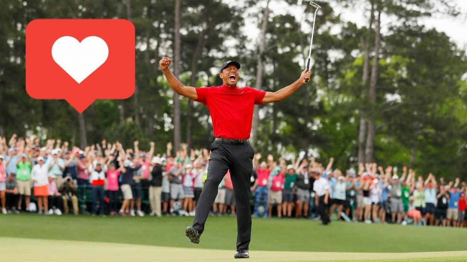 """Tiger Woods winning the Masters had golf fans everyone hitting the """"like"""" button."""