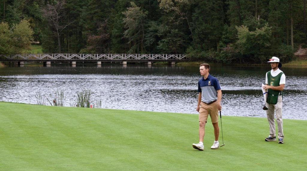 The Army-Navy match got tight on Pine Valley's back nine.