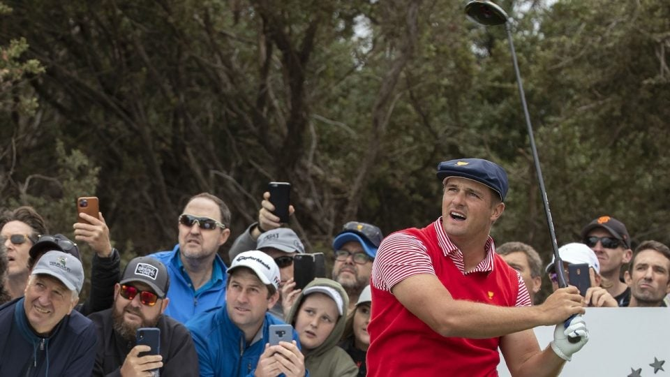Bryson DeChambeau is using a driver with long drive-level loft in Australia.