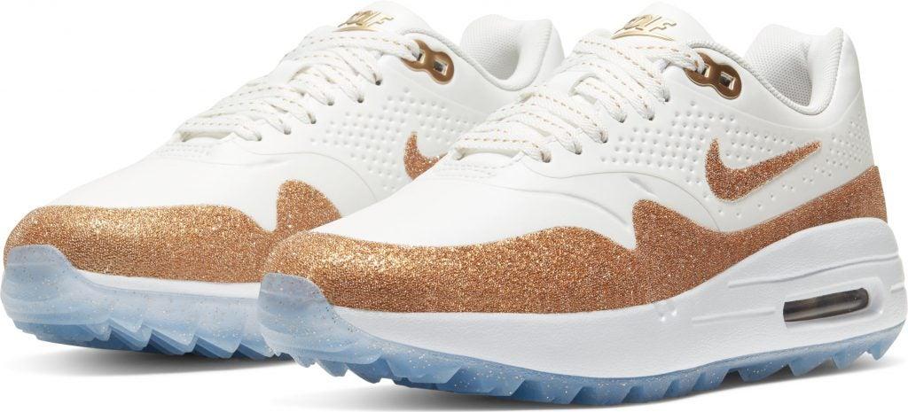 The Nike Air Max 1 x Swarovski golf shoes retail for $140.