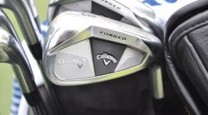 Henrik Stenson's Callaway Legacy Black irons are only available outside North America.