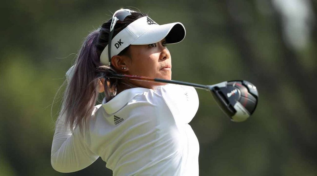 Danielle Kang showcased a pop of color at the U.S. Women's Open.