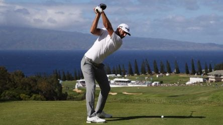Dustin Johnson Flexed Lead Wrist