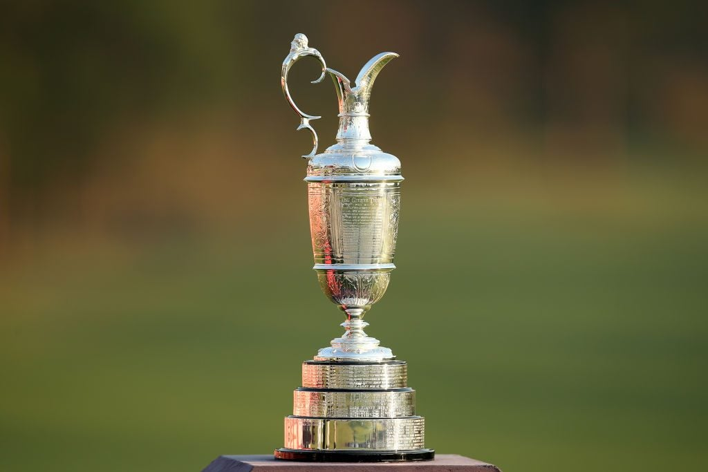 SYDNEY, AUSTRALIA - DECEMBER 05: The Claret Jug is displayed during day one of the 2019 Australian Golf Open at The Australian Golf Club on December 05, 2019 in Sydney, Australia. (Photo by Jason McCawley/Getty Images)