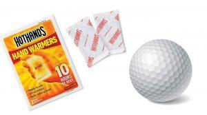 hand warmers golf ball