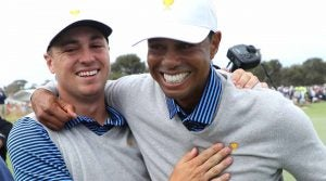Justin Thomas and Tiger Woods were part of an epic Friday foursomes match.