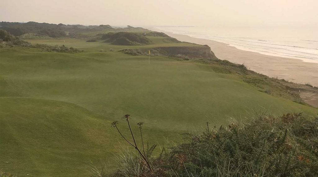 A look at the par-3 10th and 11th holes at Pacific Dunes.