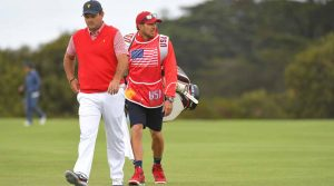 "Patrick Reed's caddie Kessler Karain was involved in an ""altercation"" on Saturday at the Presidents Cup."